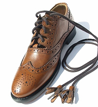 Especially smart tan ghillie brogues.