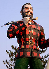 Lumberjack Folk Hero, Paul Bunyan.