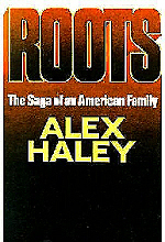 Book cover of Roots by Alex Haley.