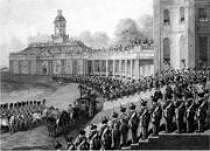 George IV arrives at Hopetoun House