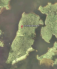 Google Earth photo of the island of Inchvatannach