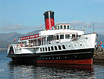 The paddle steamer 'Maid of the loch'