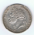 1822 - George IV Five shilling piece. Obverse.
