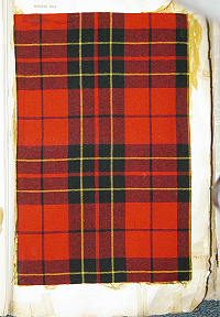 Brodie Red woven sample in the 1880 Clans Originaux