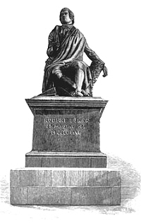 A statue of Rabbie Burns in Dunedin