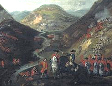 Painting of the Battle of Glenshiel