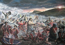 Modern rendition of the Battle of Prestonpans.