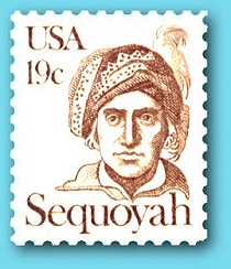 Sequoyah US Postage Stamp