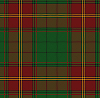 The Ulster tartan in modern colours.