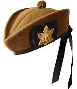 Canadian Glengarry style military hat.