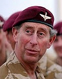 HRH Prince Charles wearing the Red Beret
