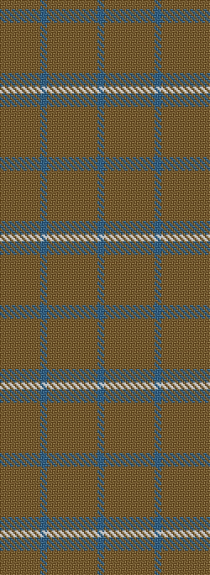 The simple blue white & beige tartan from Qizilchoqa.