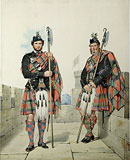 M18 - Macduff. James Lamont & William MacHardie. . Men of the Duke of Fife. Battlements of Highland Castle.