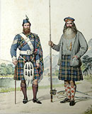 M29 - Murray of Atholl. Donald MacBeath & Willam Duff. Atholemen. . The Tay at Dunkeld, Perthshire.