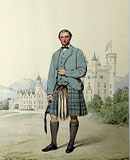 M4 - Plain kilt. Archibald Anderson Brown, His Royal Highness Prince Leopold's Valet. Balmoral Castle.